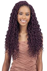 Faux by Freetress Braid Pre Looped Crochet 2x Soft Curly Faux Loc 18 Inch