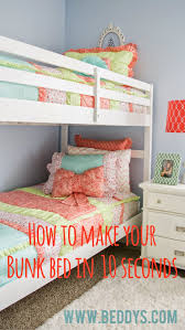 bunk beds girls make your bed fast and easy cute girls bunk bed bedding