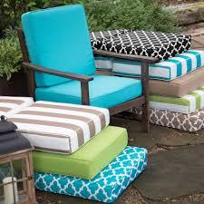 Patio Furniture Cushions Lowes by Cushions Sunbrella High Back Chair Cushions Threshold Outdoor