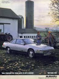1986 subaru xt 44 of the most bodacious car ads of the 1980s u2013 feature u2013 car and