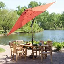 Patio Umbrella 11 Ft 11 Ft Patio Umbrella With Brick Canopy And Metal Pole