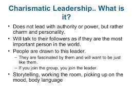 charismatic leadership slide show