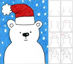 art projects for kids how to draw a snow bear drawing projects