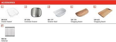franke sink accessories chopping board franke aurora pfx 620b stainless steel kitchen sink 860mm x 500mm