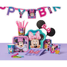 minnie mouse birthday minnie mouse bow tique birthday party banner 7 59ft walmart