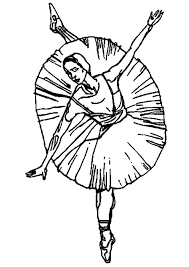 fresh ballerina coloring pages kids design gal 1542 unknown