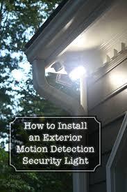 how to install sensor light how to install an exterior motion sensor light