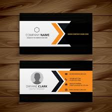 corporate business card vector free