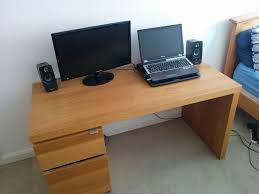 Computer Desk Brown Sophisticated Ikea Malm Desk For Your Office