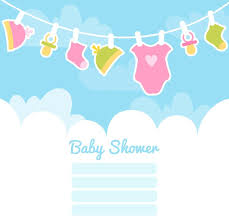 baby shower posters clothes line welcome baby party posters vector ai