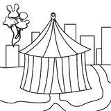 city coloring page for kids stock vector image 79785906