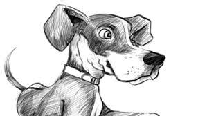 puppy dog cartoon sketch cartoon