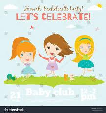 Birthday Invitation Card Design For Kids Unusual Vector Happy Birthday Invitation Card Stock Vector