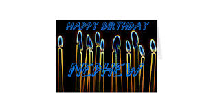 candle happy birthday nephew card zazzle com