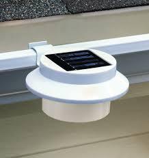 gutter solar lights solar gutter clip on outdoor light