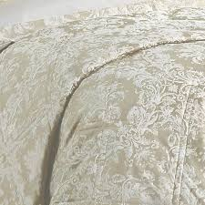 christy serena jacquard damask linen quilted bedspread dove mill