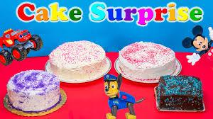 cake surprise challenge cake surprise paw patrol blaze scooby