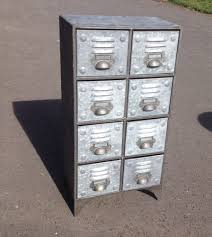 vintage industrial metal cabinet with 8 drawers retro style
