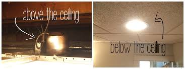 Drop Ceiling Lighting How To Put A Light Fixture In Drop Ceiling Lighting Ideas