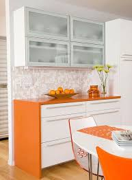 Orange And White Kitchen Ideas Orange Accents Kitchen Ideas With White Table And Chairs Kitchen