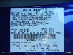 2013 mustang color code j4 for deep impact blue metallic photo