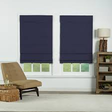 perfect lift window treatment navy insulating cordless cotton