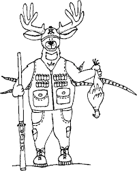 free printable hunting coloring pages kids