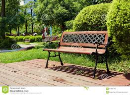 chair on wood deck wooden garden patio outdoor stock photo image