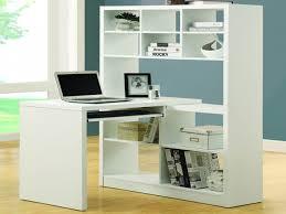 White Corner Computer Desk by Cappuccino Bookcase White Corner Computer Desk With Monitor Shelf