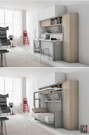 si e rabattable pour un bureau plutôt design pour un lit escamotable lit gain de place