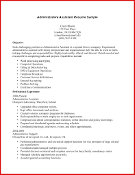 administrative assistant cv template uk image collections