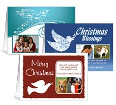 Business Printed Christmas Cards Personalized Dove Photo Christmas Cards Christmas Doves Cards