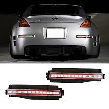 nissan 350z jdm tail lights amazon com ijdmtoy clear lens all in one led turn signal backup