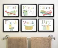 Prints For Kids Rooms by Bathroom Art For Kids Nursery Art Print Childrens Decor Set Of
