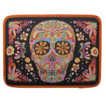 sugar skull laptop sleeves cases zazzle