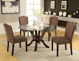 Glass Wood Dining Room Table Dining Room Glass Dining Table And Chairs Set Amusing Decor Room