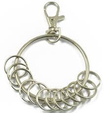 large metal rings images Vintage retro large 57mm round split ring alloy keyring holder w jpg