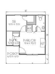 Home Design For 700 Sq Ft Houseplans Com Cottage Main Floor Plan Plan 423 45 18x22