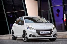 peugeot white on the road peugeot 208 gt line facelift