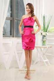 hot pink dress hot pink dress with black belt strapless taffeta sheath