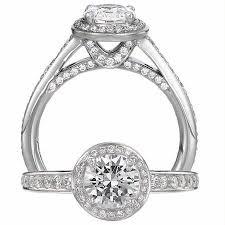 ring setting 66ct ritani endless collection diamond platinum halo