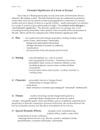 Irony Worksheet Dramatic Significance Of A Scene Or Excerpt