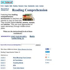 reading comprehension free worksheets pearltrees