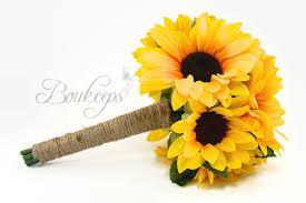 sunflower bouquet choose ribbon color sunflower bouquet sunflower bridal