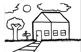 simple house landscape long drawing clubanimeartist blogspot