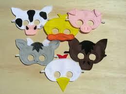 child size farm animal masks diy fun for big brother u0026 friends