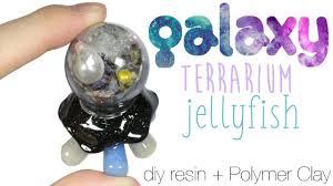 how to diy glitter galaxy terrarium dome jellyfish resin polymer
