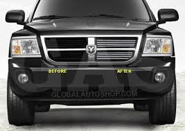 dodge dakota black grill dodge dakota chrome grill custom grille grill inserts chrome grille