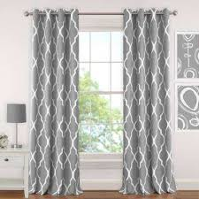 Gray And White Blackout Curtains Blackout Gray Curtains Drapes Window Treatments The Home