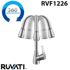 ruvati rvf1226b1ch pullout spray kitchen faucet with deck plate